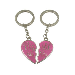 Love Heart Shaped Metal Keyring Metal Keychain pictures & photos