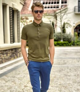 Men′s Wholesale Slim Fit Cotton Polo T-Shirt pictures & photos