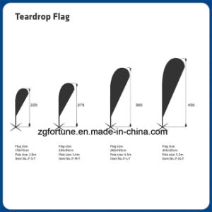 Feather Flag Outdoor Advertising High Quality Printed Teardrop Beach Flag pictures & photos