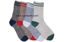 Double Needle Men Socks pictures & photos