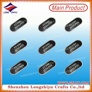 2015 Design Metal Labels for Handbags, Silver Aluminum Label pictures & photos