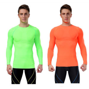 Custom Long Sleeve Seamless Tights Dry Fit Shirt pictures & photos