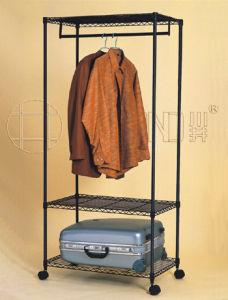 Adjustable 3 Tiers Epoxy Metal Garment Wardrobe Rack Shelf (CJ-B1030) pictures & photos