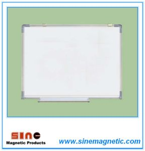 Wall-Mounted Single-Side Magnetic Enamel White Board pictures & photos