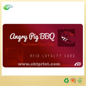 RFID PVC Loyalty Card Printiing with Magnetic Card (CKT-PC-137)