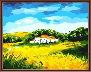 Wholesale SGS CE DIY Digital 40*50 Landscape Framed Oil Painting on Canvas Gx6232