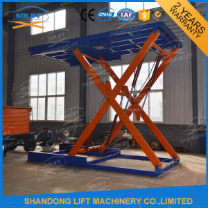 Hydraulic Type Portable Scissor Inground Car Lifts for Sale pictures & photos