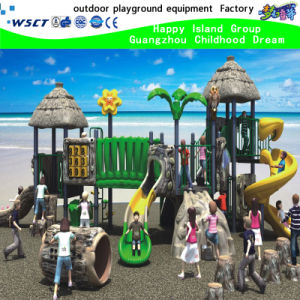 2016 New Design Artificial Wood Playground Equipment (HK-50011) pictures & photos