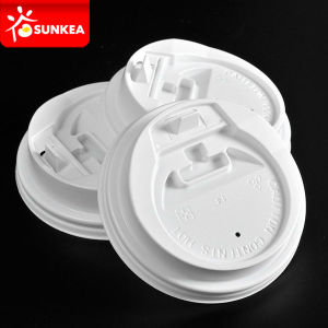 Disposable White Paper Coffee Cup Plastic Lid pictures & photos