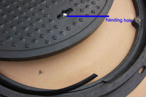 SMC FRP Waterproof Circular Manhole Cover pictures & photos
