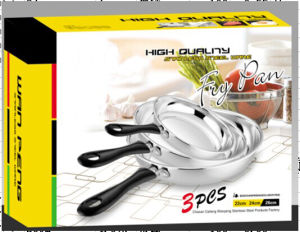 Stainless Steel Fry Pan Set with Long Handle pictures & photos