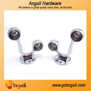 Zinc Alloy Double Round Garderobe Tube Holder pictures & photos