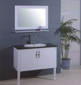 White Wooden Modern Vanity (B-313) pictures & photos
