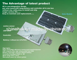 High Efficiency LED Solar Street Light with Motion Sensor pictures & photos