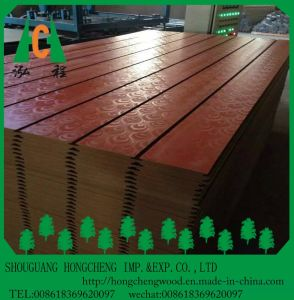12mm 15mm 18mm Melamine Faced MDF Board / Slot MDF / Waterproof MDF Board pictures & photos