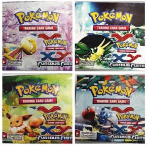 Pokemon Xy Furious Fists Cards 324PCS/Box 36bags/Box New Pokemon Cards Pokemon Trading Card Game Children Cartoon Cards Toys Gifts