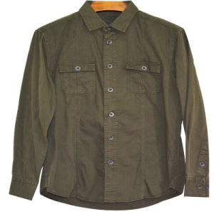 Xdl15021 Men′s Cotton Twill Jacket with Detail Pockets