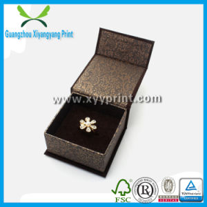 Hot Stamp Logo Printed Kraft Paper Jewelry Packaging Box for Gift pictures & photos