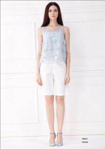 European Hot Selling White Casual Women Short (C95038)