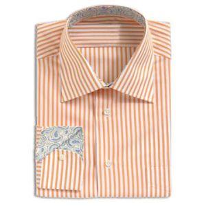 100% Cotton Y/D Stripe Men′s L/S Shirt