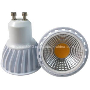 New Indoor 5W COB 510lm Dimmable GU10 LED Spotlight Bulb pictures & photos
