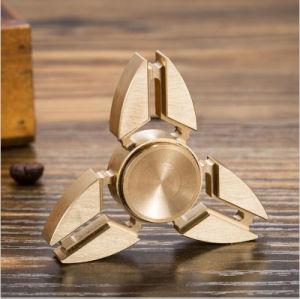 Tri-Spinner Fidget Toys EDC Hand Spinner Metal Fidget Spinner for Adhd Adults Children Relax Time Long Funny