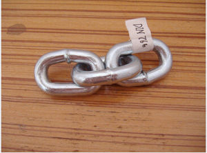 Electro Galvanized Welded Steel Short Link Chain DIN766 pictures & photos