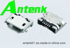 Micro USB Connectors 5p Receptacle B Type SMT (Shell DIP) pictures & photos
