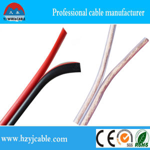 2 Cores 2*7*66/0.12 AWG10 Flexible Transparent Speaker Cable pictures & photos