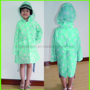 Fashion Waterproof Kid Printed 210t Raincoat (HC0349) pictures & photos