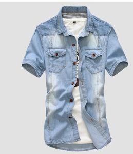 Men Denim Shirt (L8023)