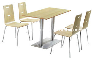 Fashion Style Cheap Cafe Furniture Table Set (FOH-BC23) pictures & photos