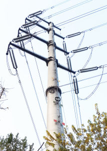 Electric Power Tower Galvanized Electrical Lighting Column pictures & photos