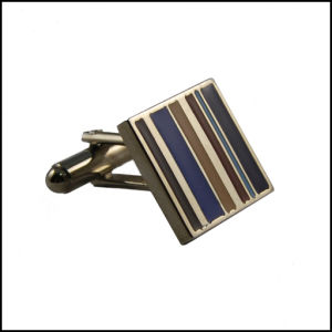 Metal Striation Design Cufflink Nickle Plated Cufflink (GZHY-XK-016) pictures & photos