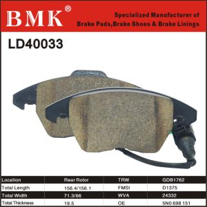 Ceramic Brake Pads (D40033) for Volkswagen pictures & photos