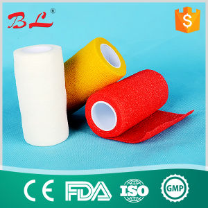 High Quality Vet Wrap Bandage Medical Non-Woven Elastic Cohesive Bandage pictures & photos
