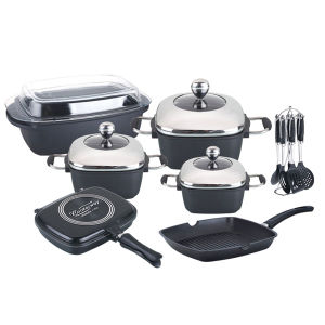 2015 Die Casting Non-Stick Cookware Set pictures & photos