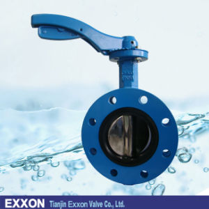 U Type Flanged Butterfly Valve in Ductile Iron with Handle (D41X) pictures & photos