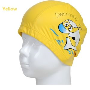 Kids Swimming Caps PU Coated Breathable Waterproof Bathing Hats Comfort Fit pictures & photos