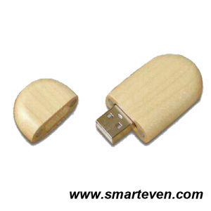 Oval Wood USB Flash Drive (S-U-W003)