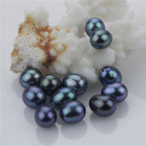 Snh Black Color Natural Loose Teardrop Pearl Beads pictures & photos