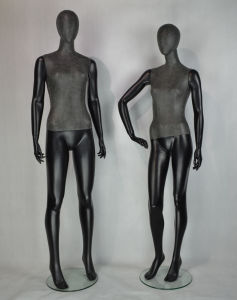 Black Color Female Mannequins Wrapped PU Leather for Display pictures & photos