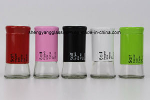 Color Glass Spice Bottle with Stainless Steel Coating pictures & photos