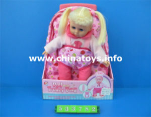 2016 New Soft Plastic Toys Baby Girl Doll+Suitcase (533782) pictures & photos