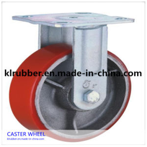 3 - 8 Inch Rigid Heavy Duty PU Caster Wheel pictures & photos