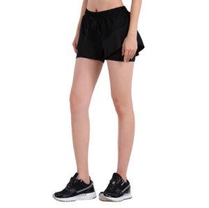 Plain Black Compression Bottoms Tight Women Wholesale Athletic Short pictures & photos