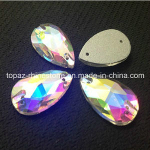 Pear Sew on Flat Back Crystal Glass Rhinestones (SW-Tear drop 13*18mm) pictures & photos