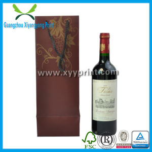 Luxury Custom Paper Gift Wine Bag with Handle Wholesale pictures & photos