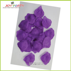 Purple Artificial Polyester Rose Petal pictures & photos