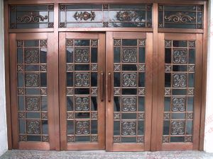 Copper Plated 304 Stainless Steel Double Door (BHS-DC08) pictures & photos